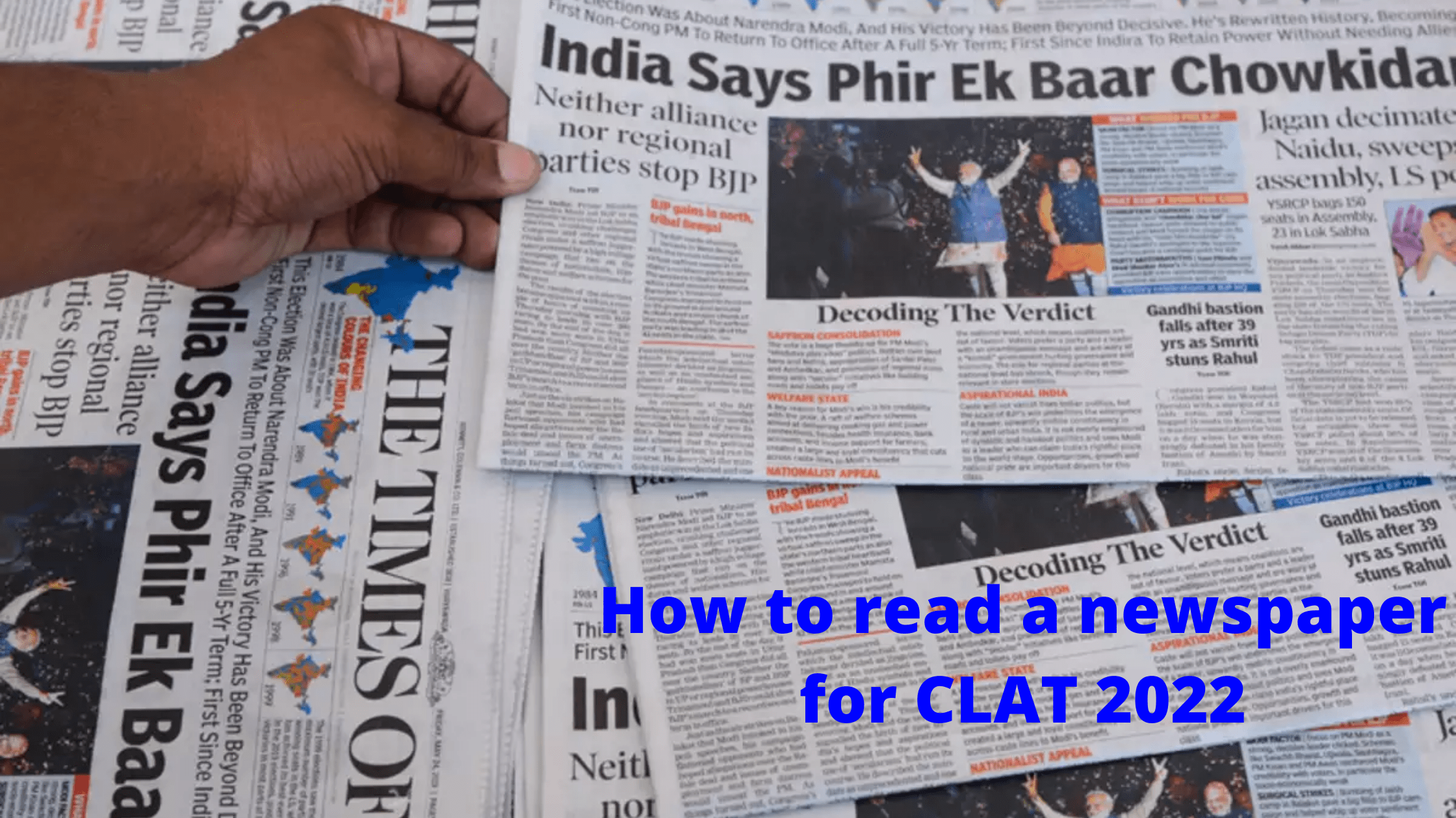 How to read newspaper for CLAT 2022
